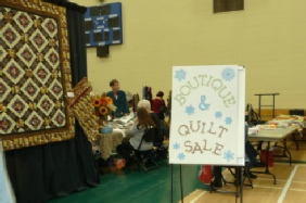 Boutique - wonderful handmade items - and quilt sale.