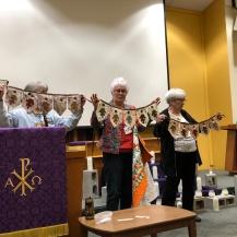 Lana LaPlante, Geri Richards & Sandy Weis, Acorn Banners